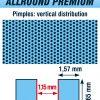 table tennis pimples vertical distribution