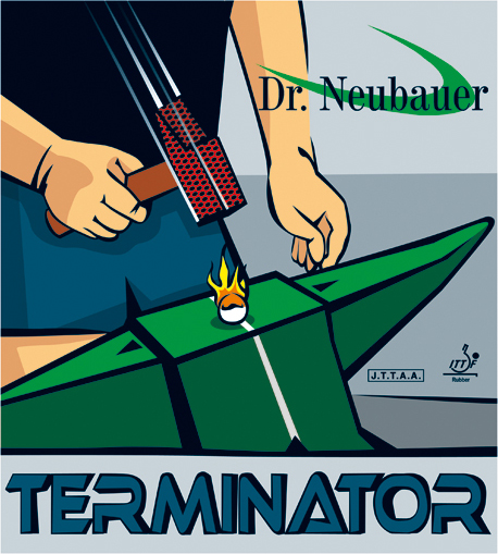 stalo teniso guma Terminator trumpi dantukai