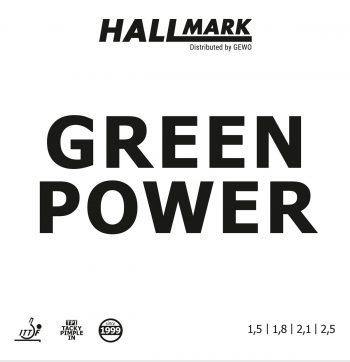 Hallmark green power cover table tennis rubber