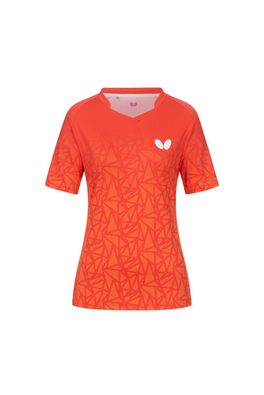 Lady shirt Higo Butterfly orange